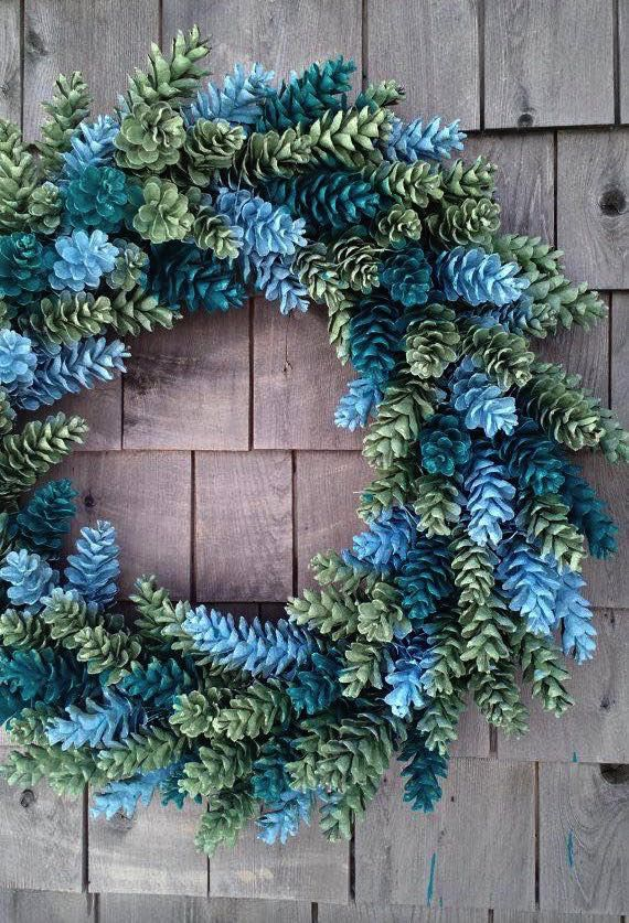 Photo of 21 nápadov na nádherné vianočné vence vyrobené zo šišiek