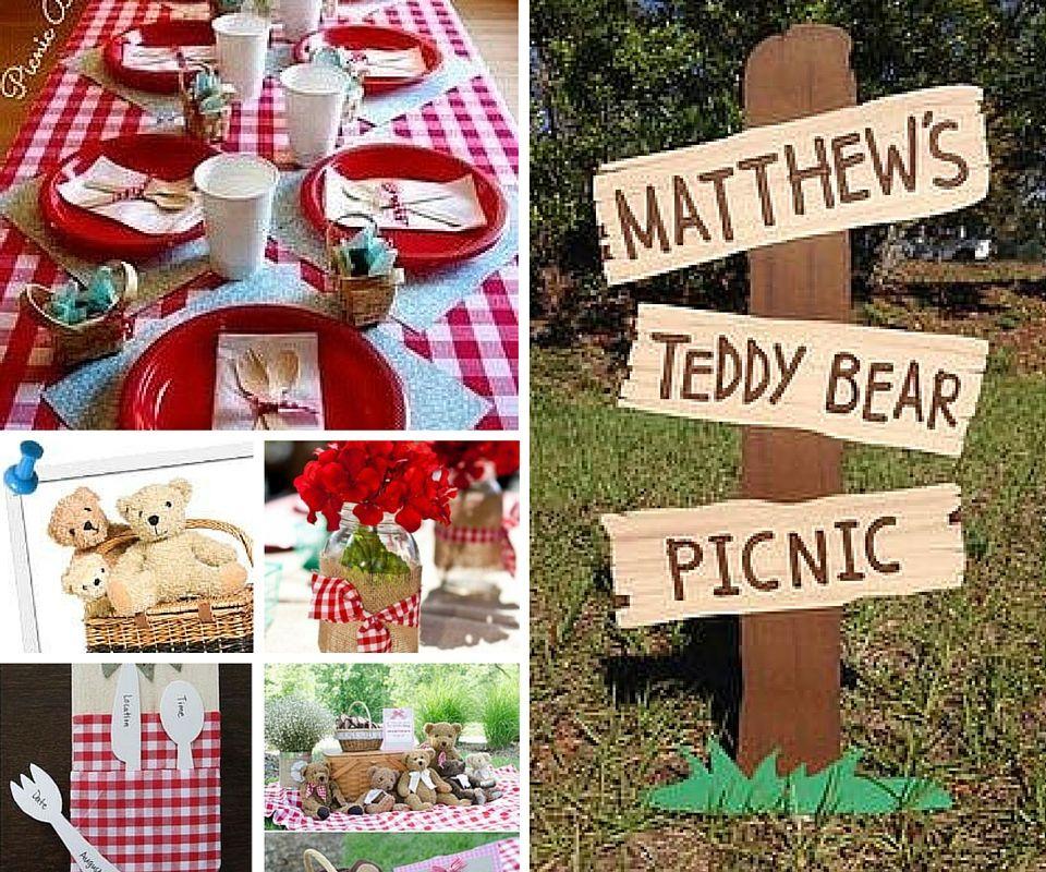 Teddy Bear Picnic Party Decor Ideas | Teddy bear picnic 1st birthday ...