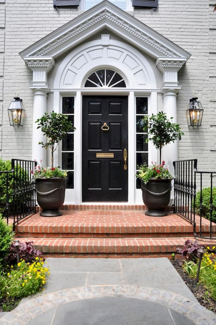 Stunning Traditional Front Door Design Front Doors Pinterest