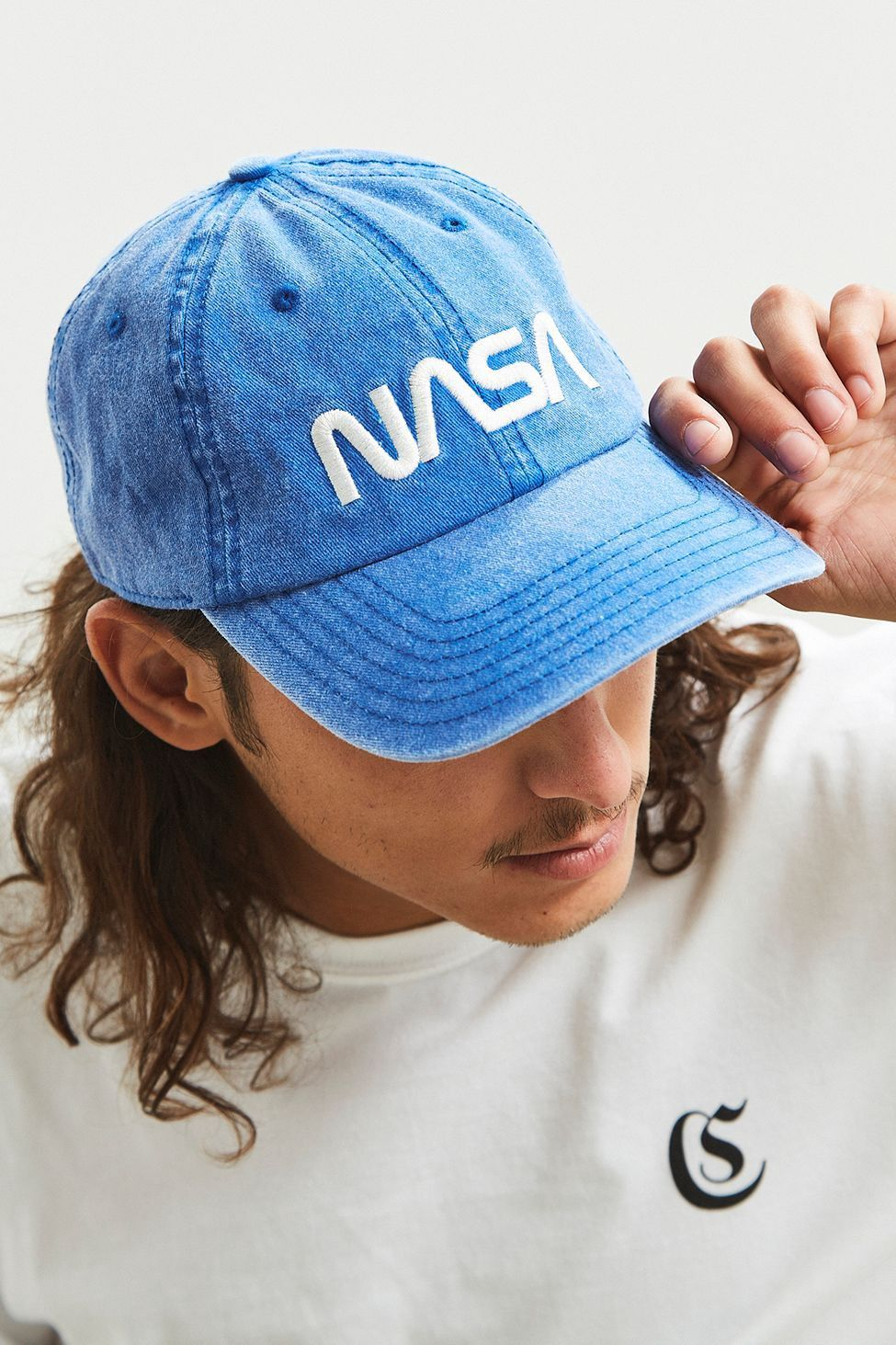 Urban Outfitters Nasa PigmentDyed Dad Hat Blue One Size