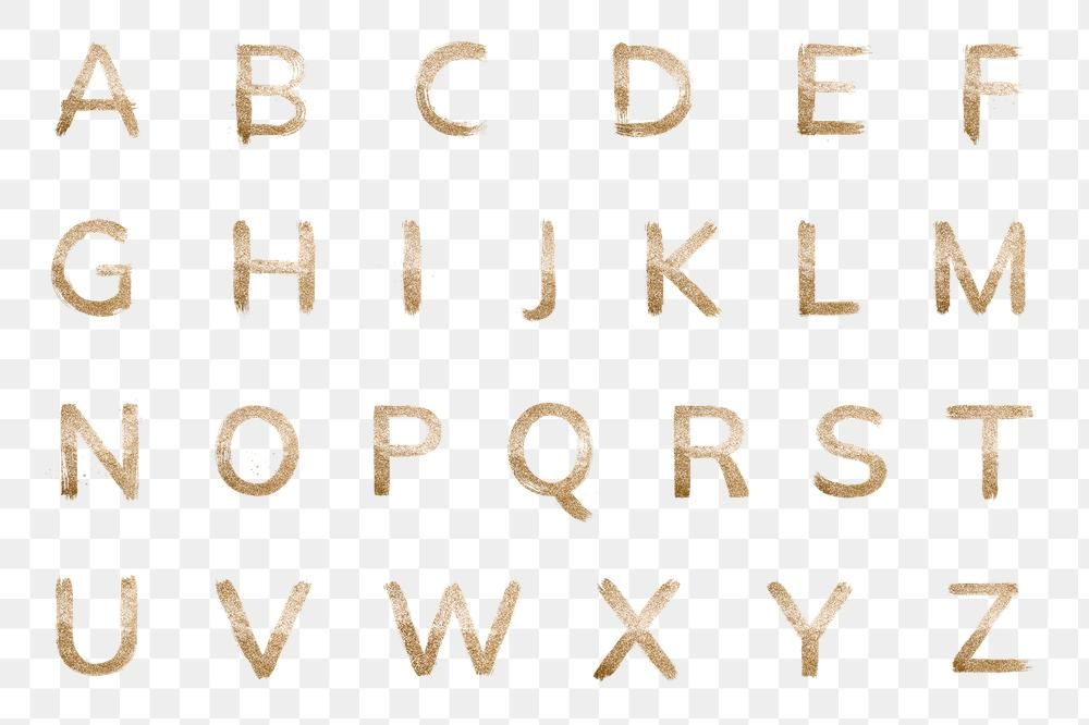 Transparent Gold Glitter Alphabet Set Typography Free Image By Rawpixel Com Hein Gold Letters Lettering Alphabet Gold
