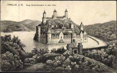 Künstler Ansichtskarte / Postkarte Halle Saale, Burg Giebichenstein mit Graben
