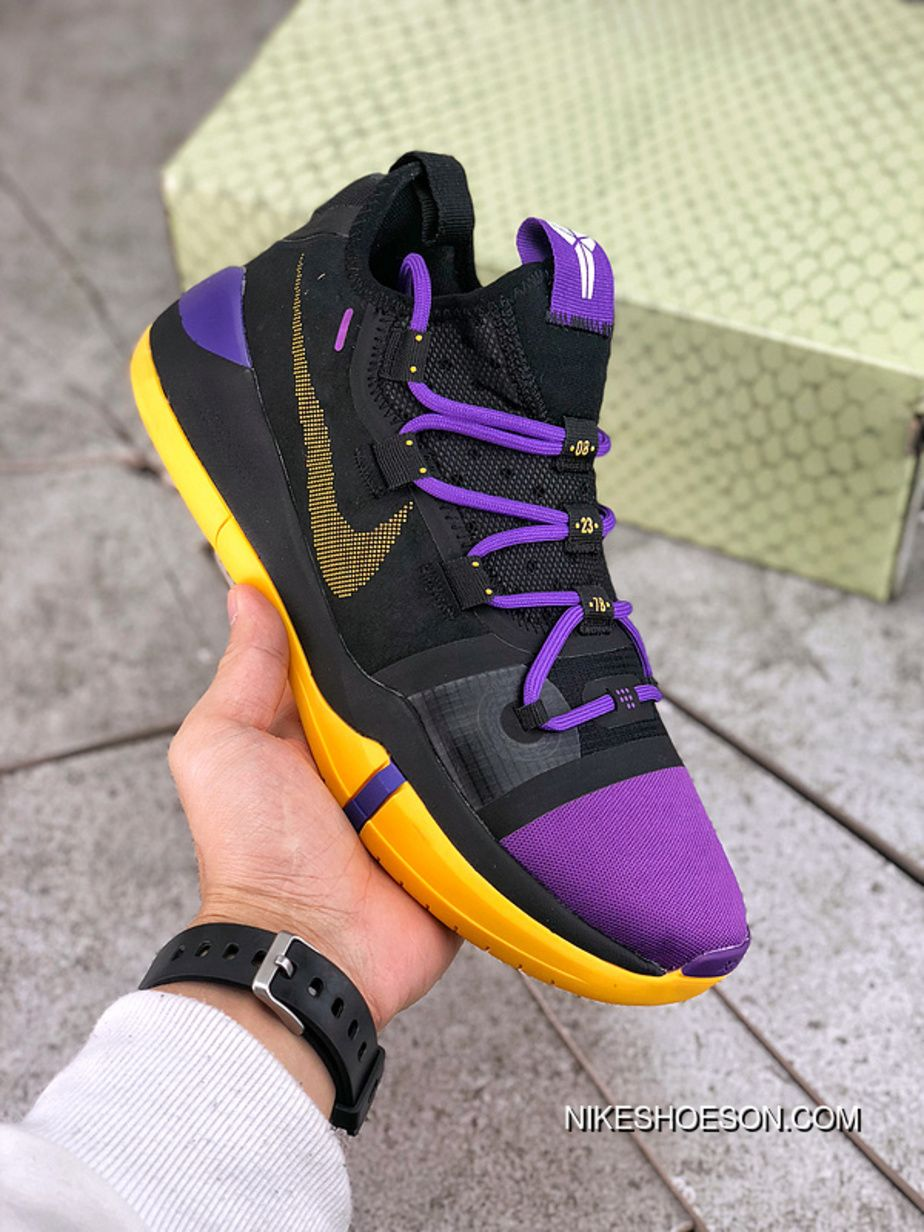 68d1b7a5ffc Basketball Shoes Nike Kobe.A.D Reactzoom Pink 617H1732 Black Purple  Colorways Size Online