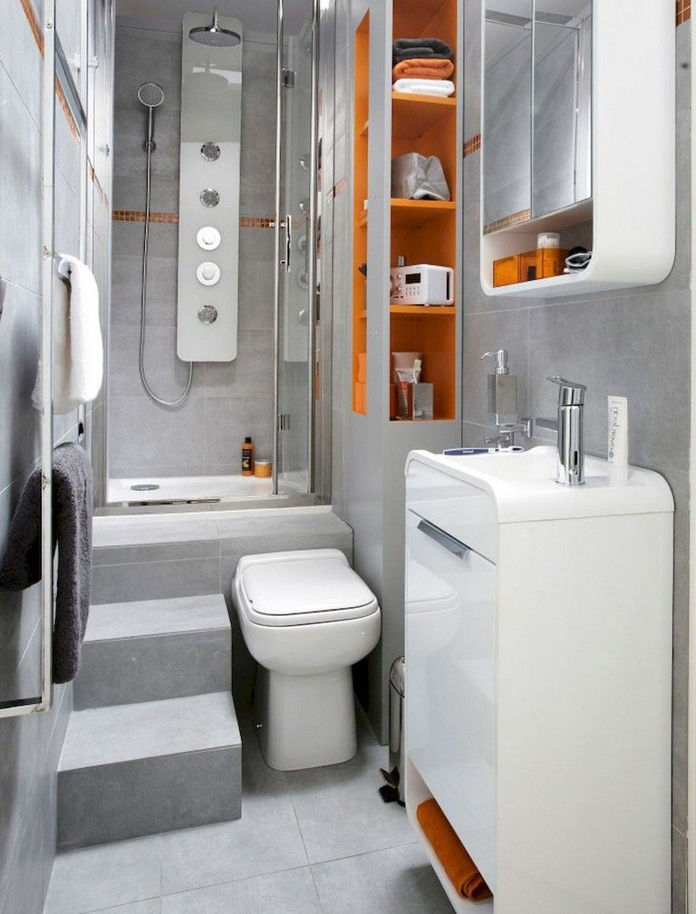 64 Best Tiny House Bathroom Design Ideas Tinyhouse Bathroomdesign Bathroomdesignideas Tiny House Bathroom House Bathroom Small Bathroom Storage