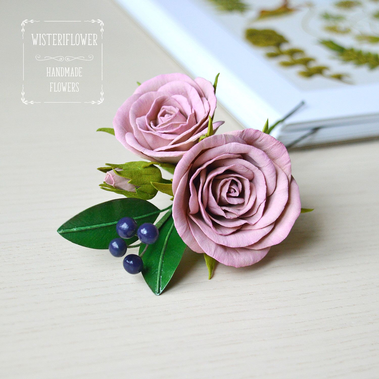 Dusty Pink Wedding Hair Pin Boho Wedding Dusty Rose Hair Pin Outdoor