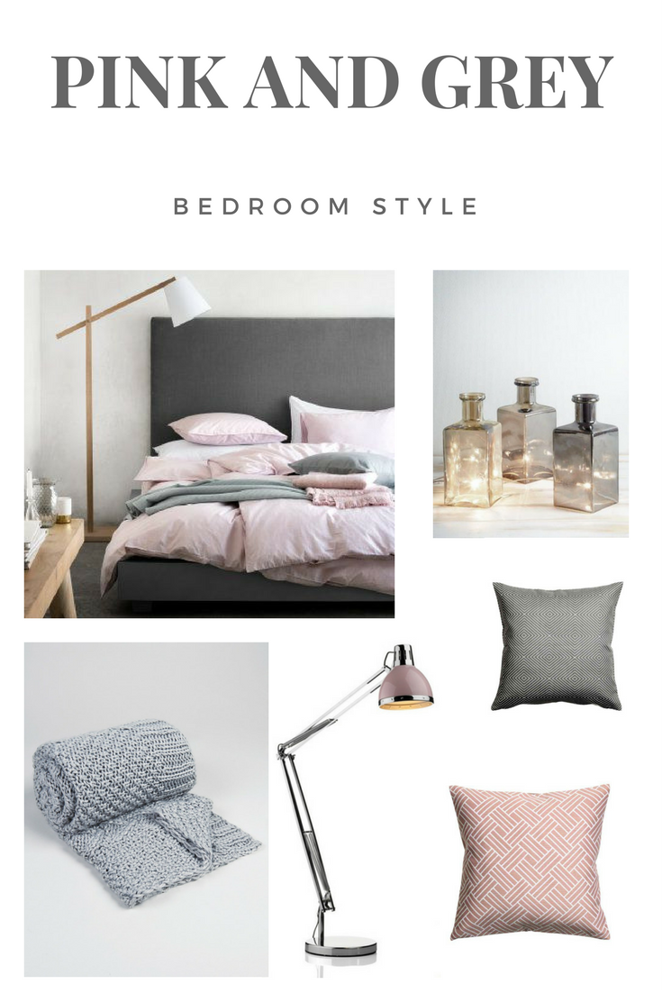 Dusty Pink and Grey Bedroom Style Pink bedroom decor