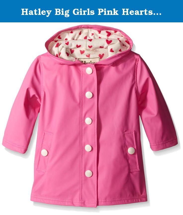46677a1d3eb9 Hatley Big Girls Pink Hearts Splash Jacket
