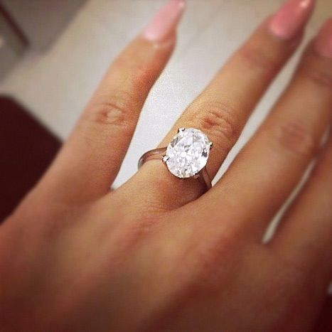 Celebrity Engagement Rings My Take Amber Rose And Ring Karen Large Oval Shaped Diamond