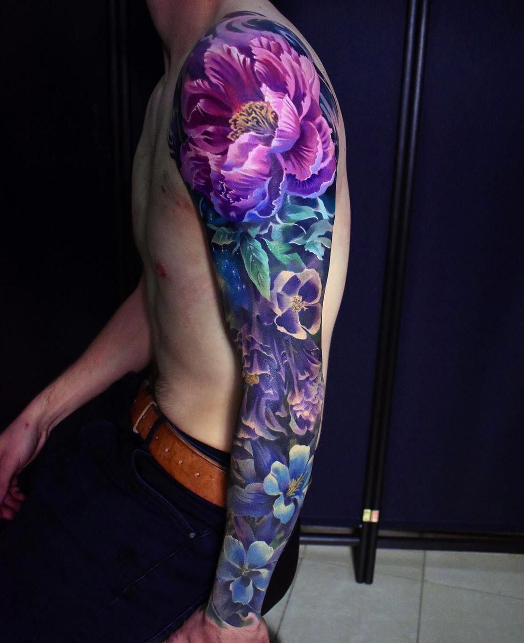 Color Realismo Brazo Tatuaje #realismtattoo #colourtattoo #skingiants #tatuador #tattoolove  Galantería De La Manga