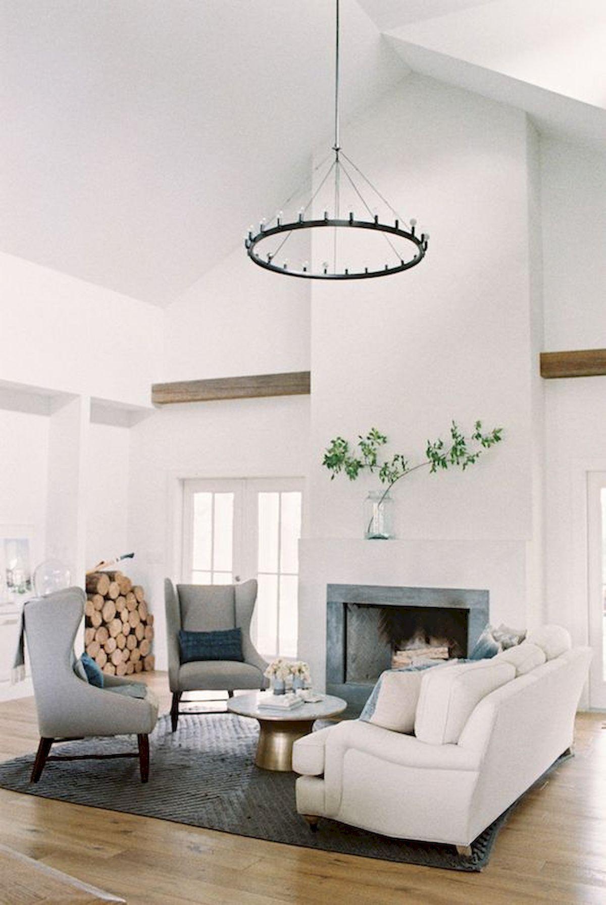 70 elegant modern farmhouse living room decor ideas and makeover rh pinterest com