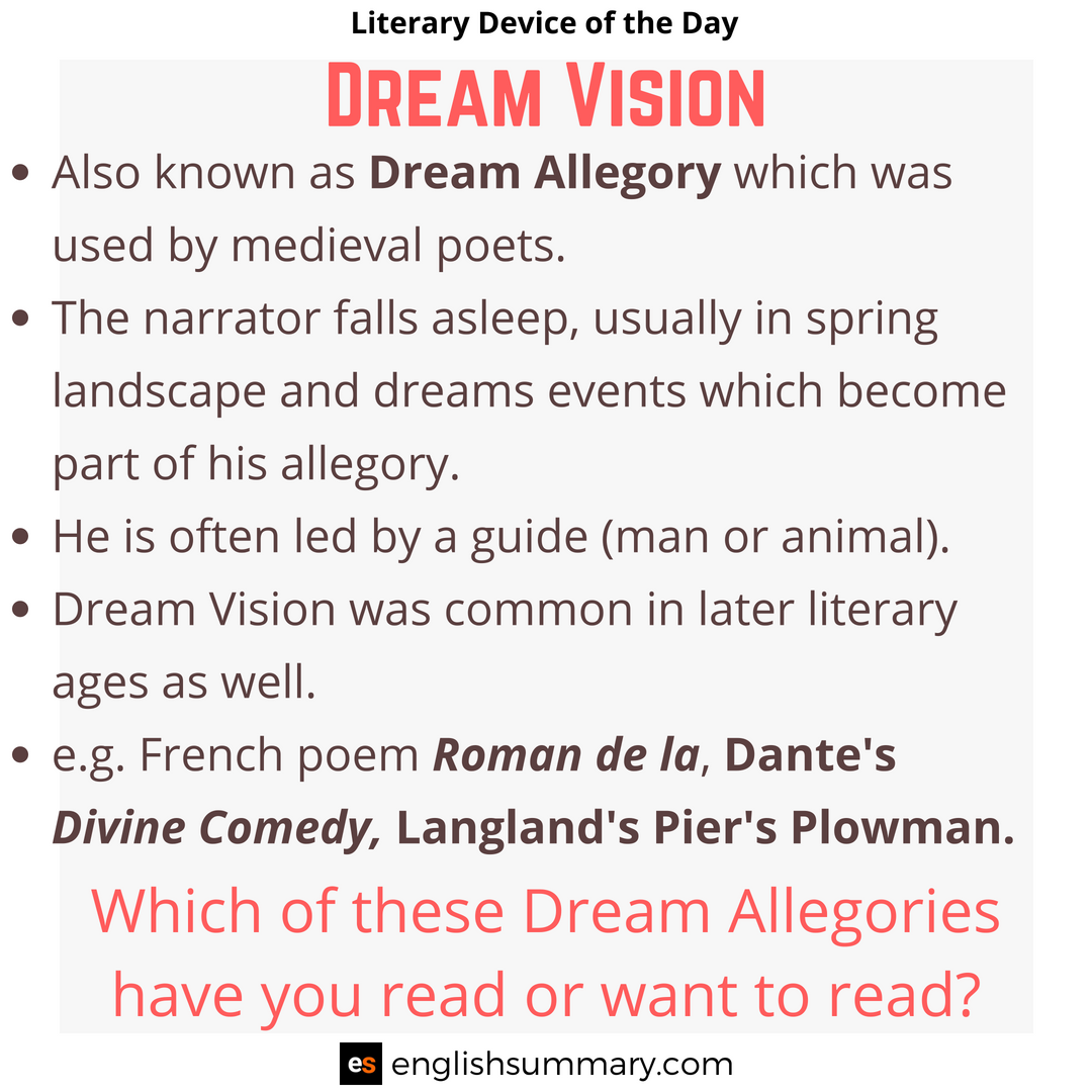 Dream Vision Meaning And Examples Literary Device