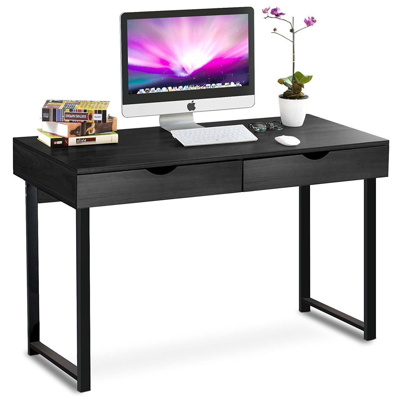 tribesigns computer desk modern stylish 47 home office study table rh pinterest com