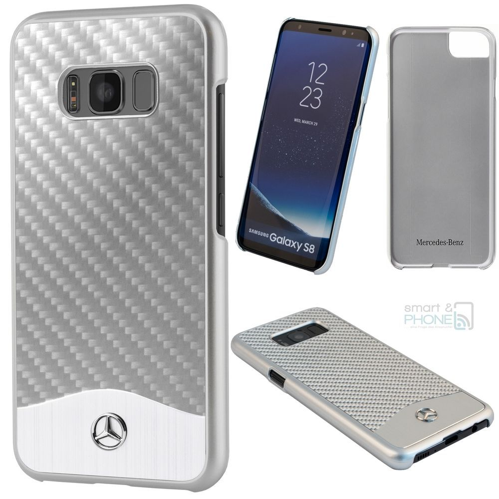 Mercedes Carbon Alu Samsung Galaxy S8 S8 Plus Hard Back Cover Case Schutz Hulle Samsung Mercedes Cover