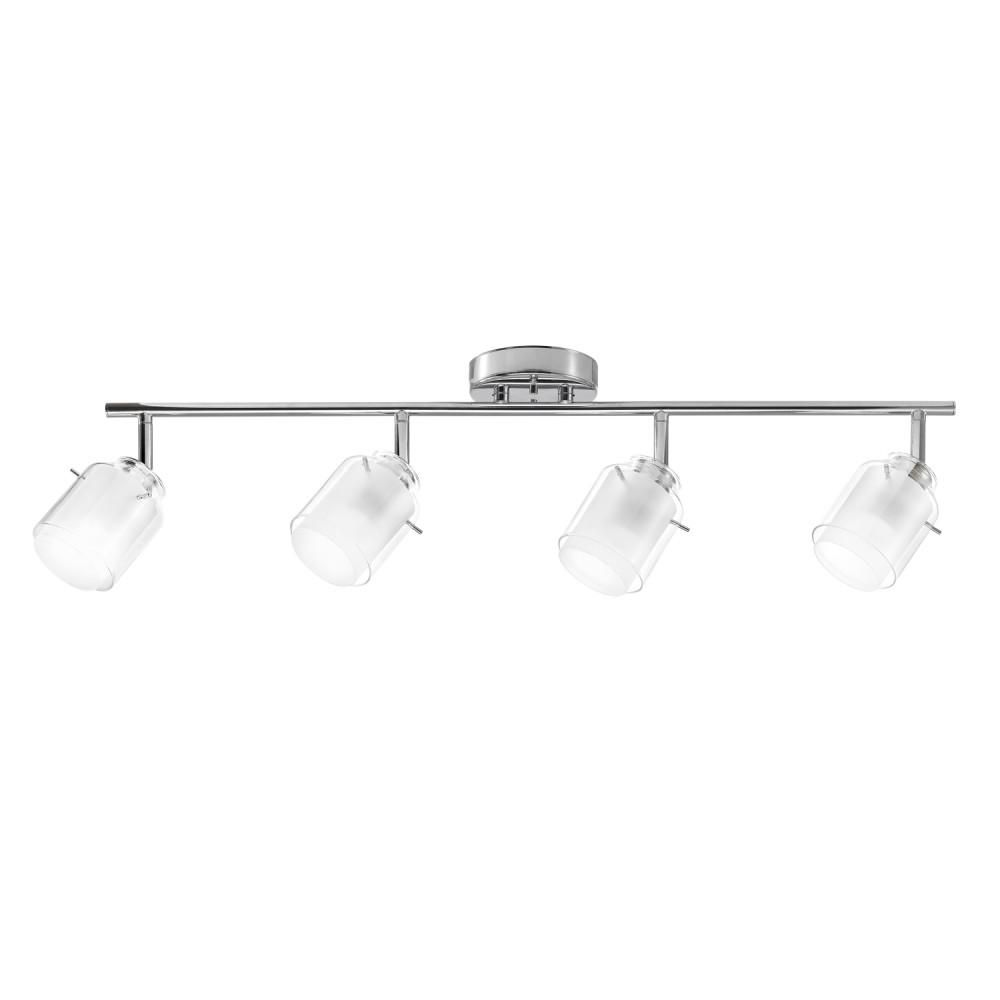 4 Light Chrome Track Lighting Kit