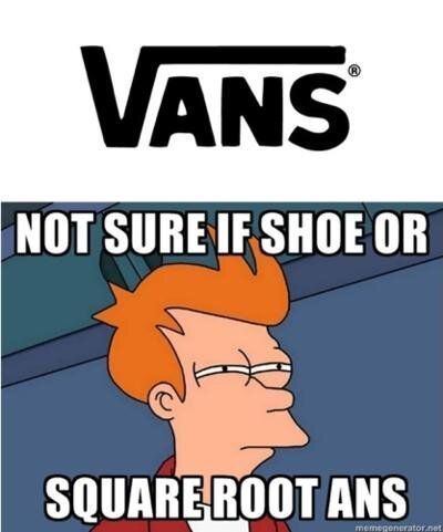a74c50a65d Vans  Shoes or squareroot of Ans