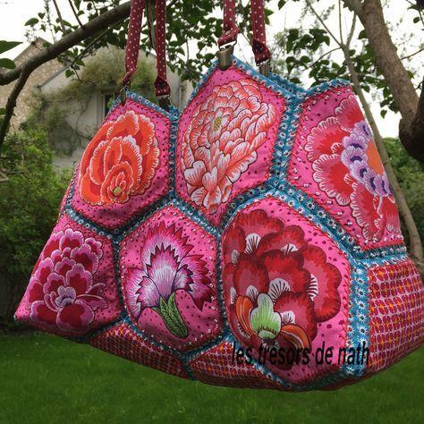 Tuto sac hexagones. – les trésors de nath