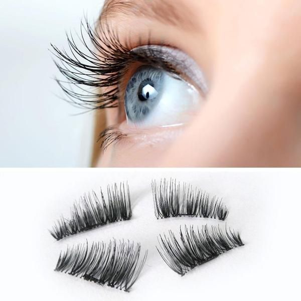 48d923c14f6 1 Pair 3D Magnetic Eyelashes No Glue Required Ultra Thin Reusable False  Eyelashes
