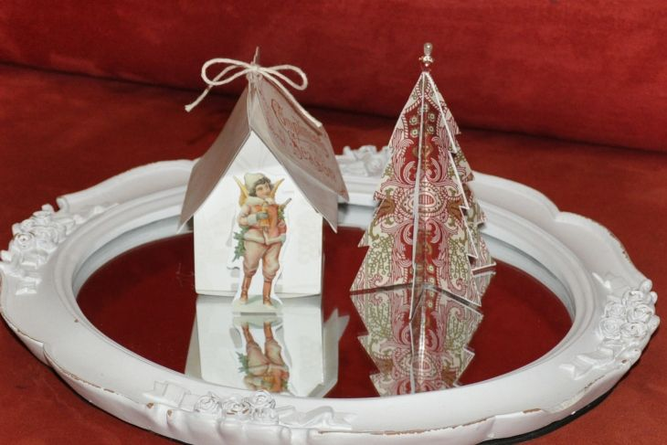 Wings of Whimsy: Vintage Christmas Village - DAY 16 - free printables #vintage #victorian #ephemera #cottage #cherub #tree