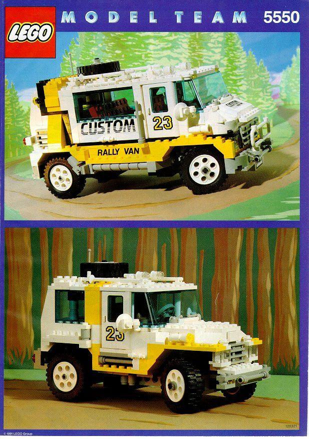 Model Team Custom Rally Van Lego 5550 Lego Pinterest Lego