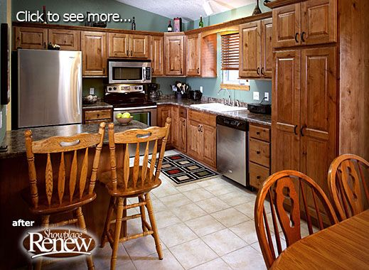 click to view showplace renew before after kitchen cabinets rh pinterest com