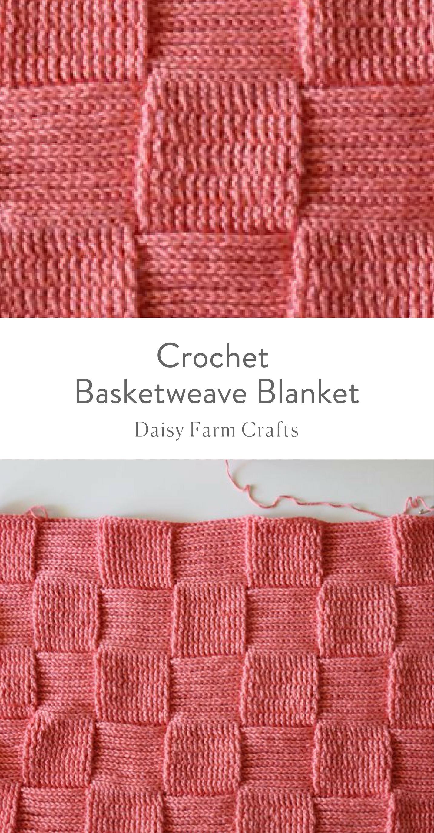 Free Pattern - Crochet Basketweave Blanket | Craft project ideas ...