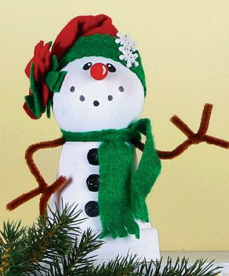michaels christmas craft ideas clay pot snowman winter crafts diy 4923