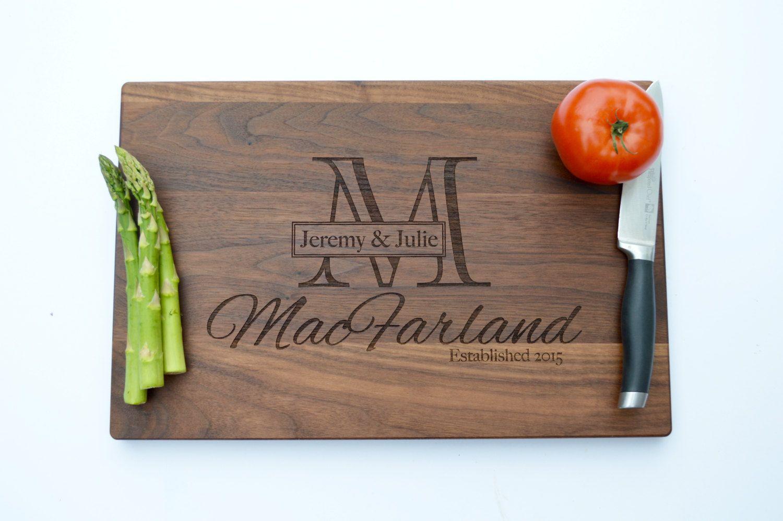 Custom Wedding Gift Engraved Cutting Board Gift