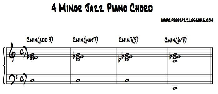 4 Different Way To Play Minor Jazz Piano Chords Piano Lessons