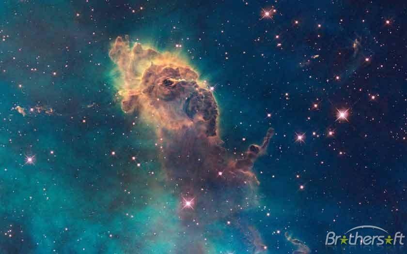 HUBBLE SPACE TELESCOPE POSTER showing STARS OF CARINA NEBULA rare 24X36