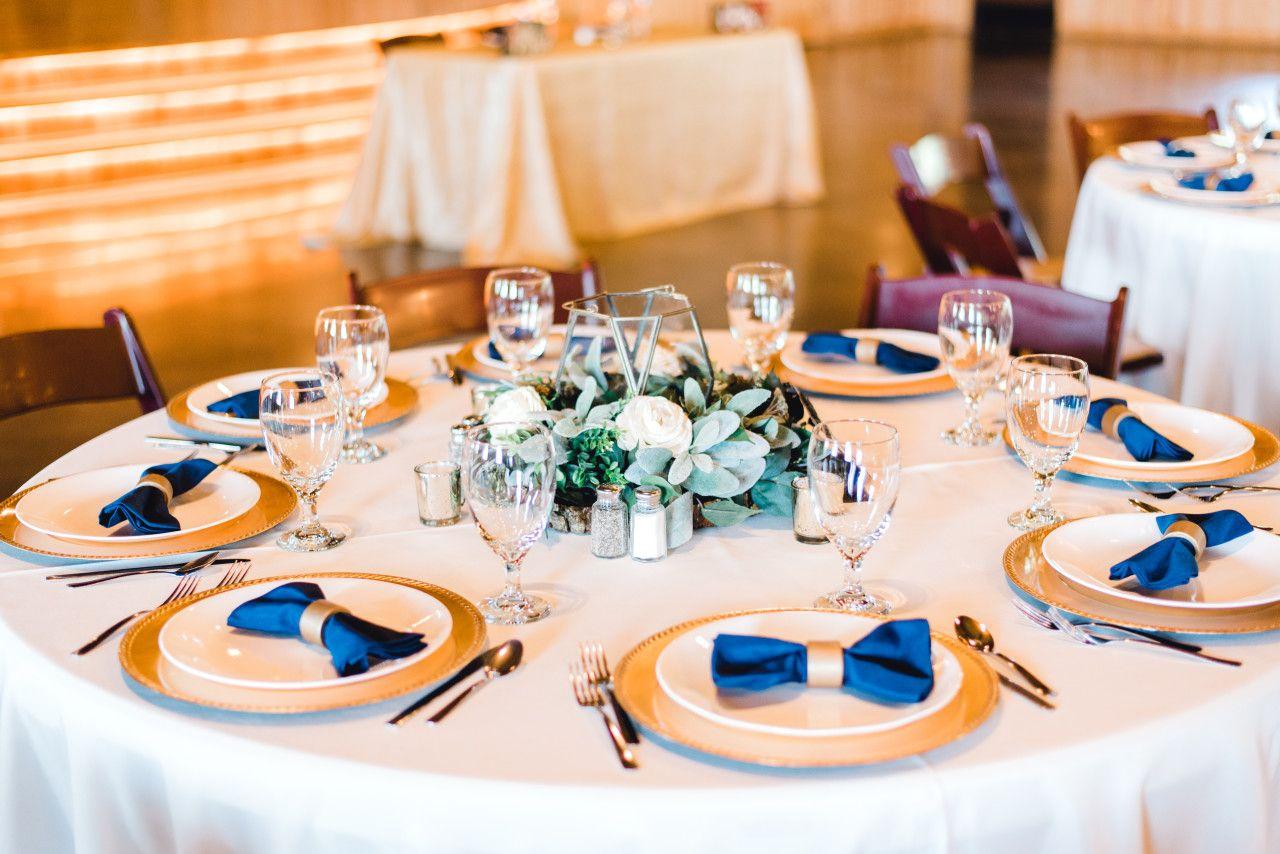 gold navy blue wedding decorations modern wedding table rh pinterest com