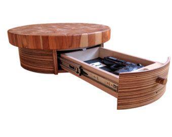 zebra wood veneer concealment side table by griffsvision on etsy rh pinterest com