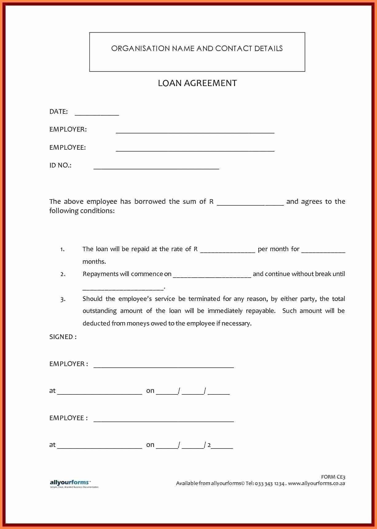 Family Loan Agreement Template Luxury 41 Last Sample Personal Loan Agreement Between Family Ga In 2020 Contract Template Personal Loans Loan