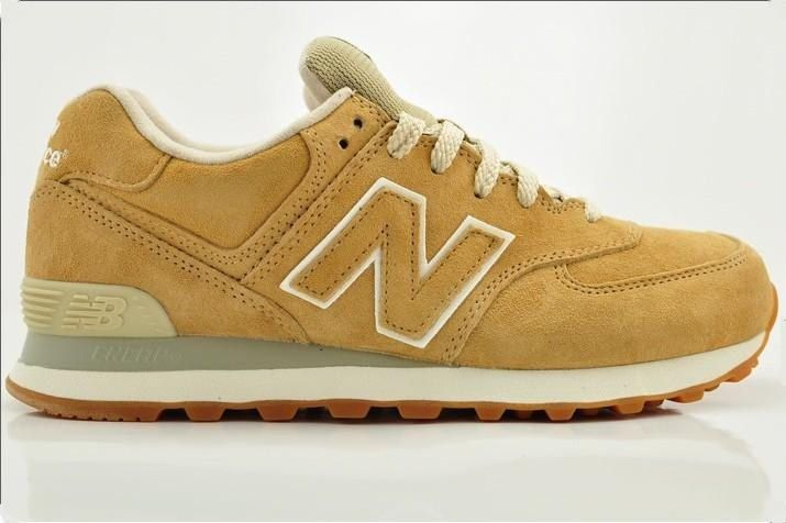 New Balance - Suede Brown Yellow Shoe