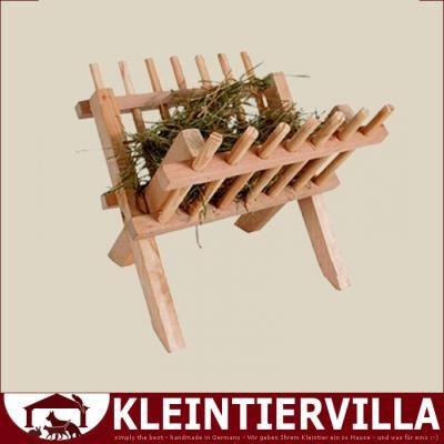 Heuraufe X Holz Heuraufe Holz Meerschweinchen Kaninchen Gras Heu