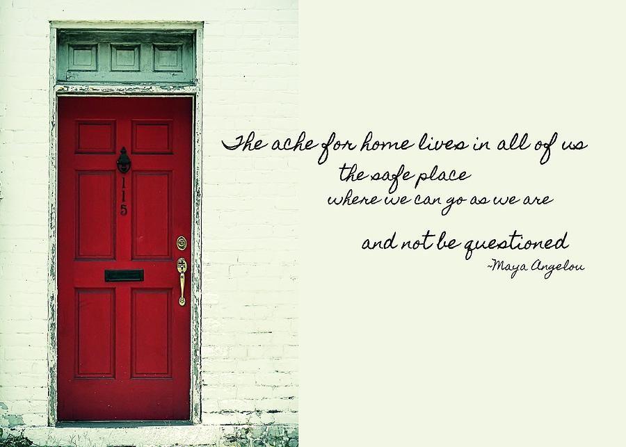 Red Door Quote Photograph By JAMART Photography Red Door Quote Fascinating Quotes About Doors