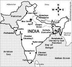 Ancient India Map Worksheet Key.Gandhi Enchantedlearning Com Gandhi Pinterest Gandhi India