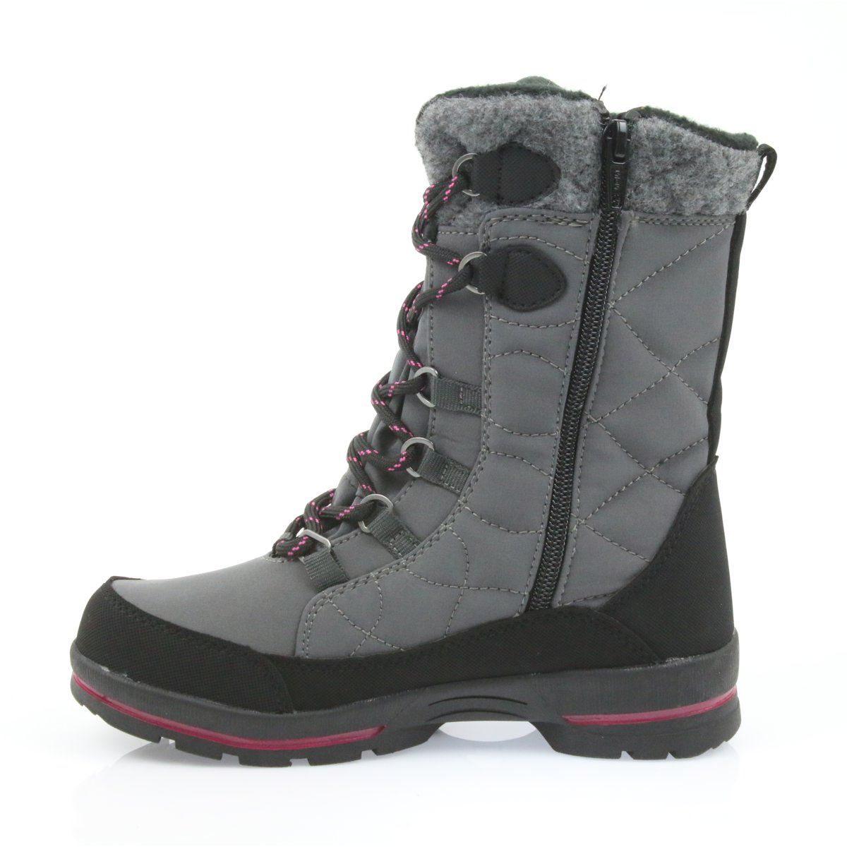 American Club Softshell Snow Boots With American Sn19 20 Membrane Black Pink Grey Boots Childrens Boots Snow Boots