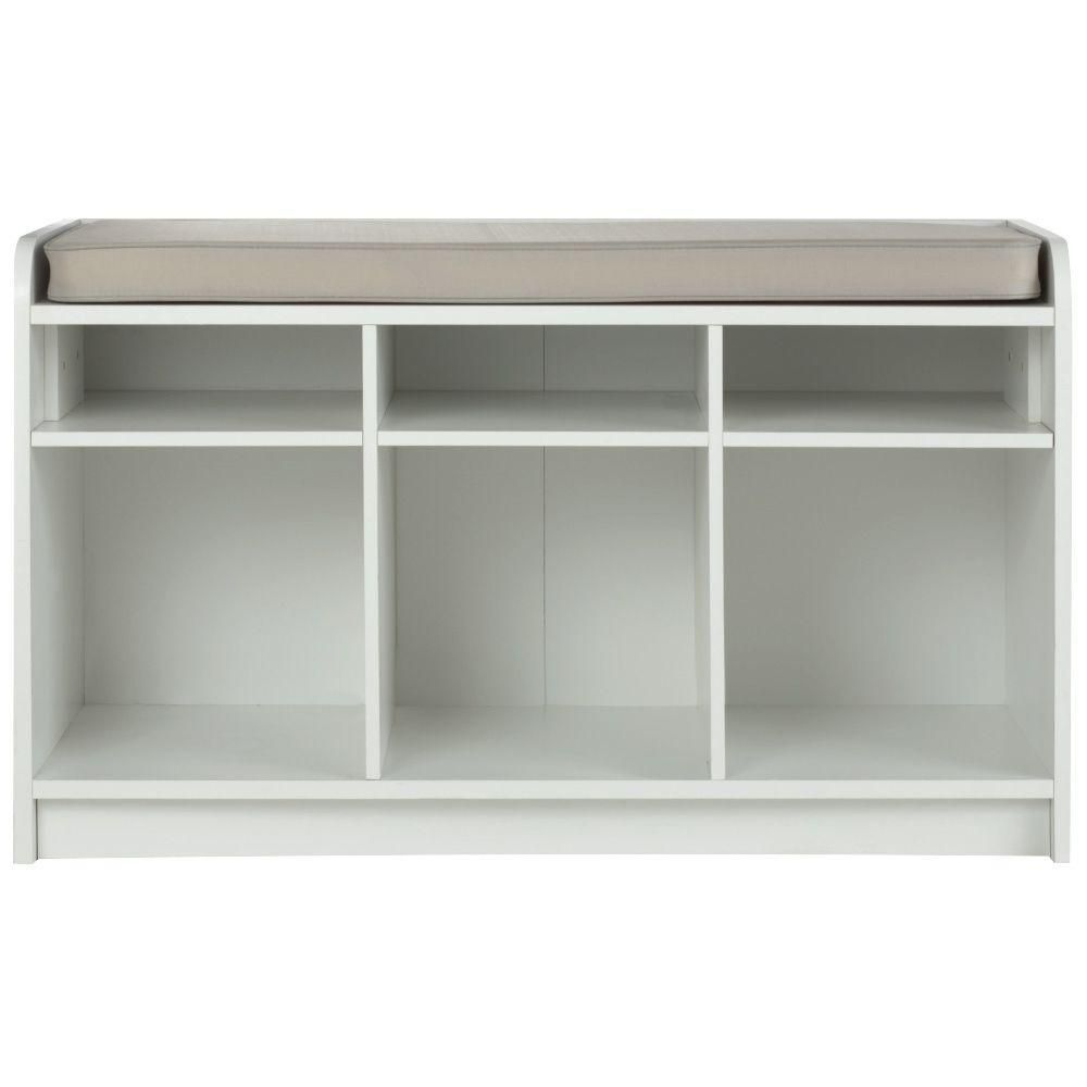 white 3 cubby storage bench entryway entry storage bench white rh pinterest com