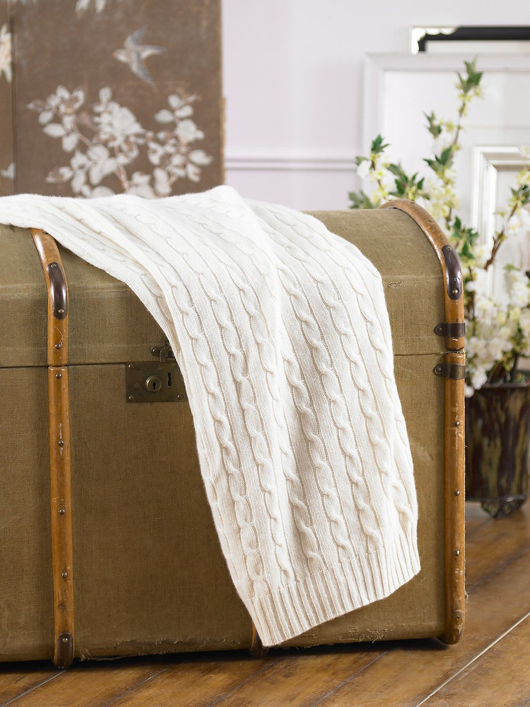 Cabled Cashmere Throw Throws Bed Blankets Ralphlauren