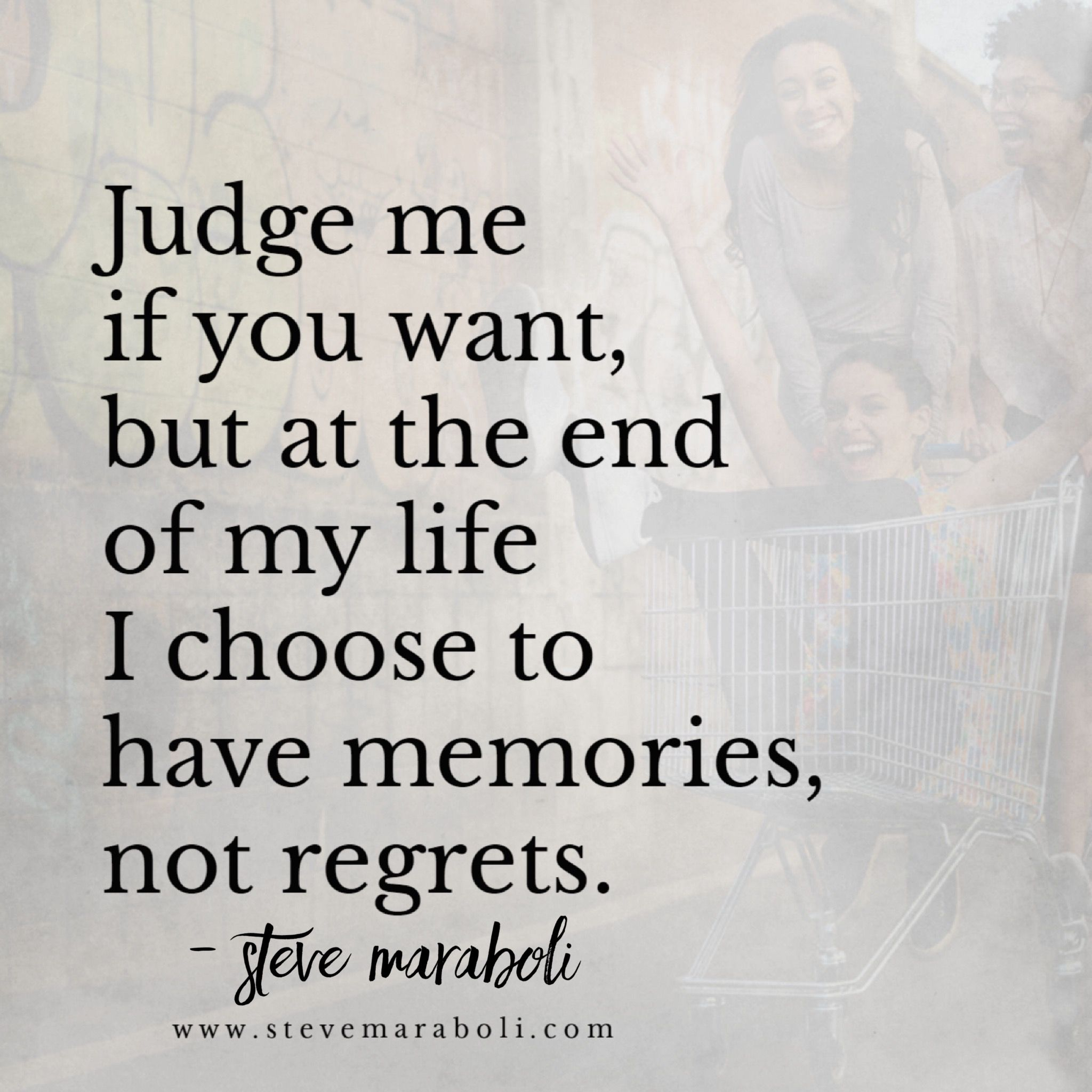 Judge me if you want, but at the end of my life I choose