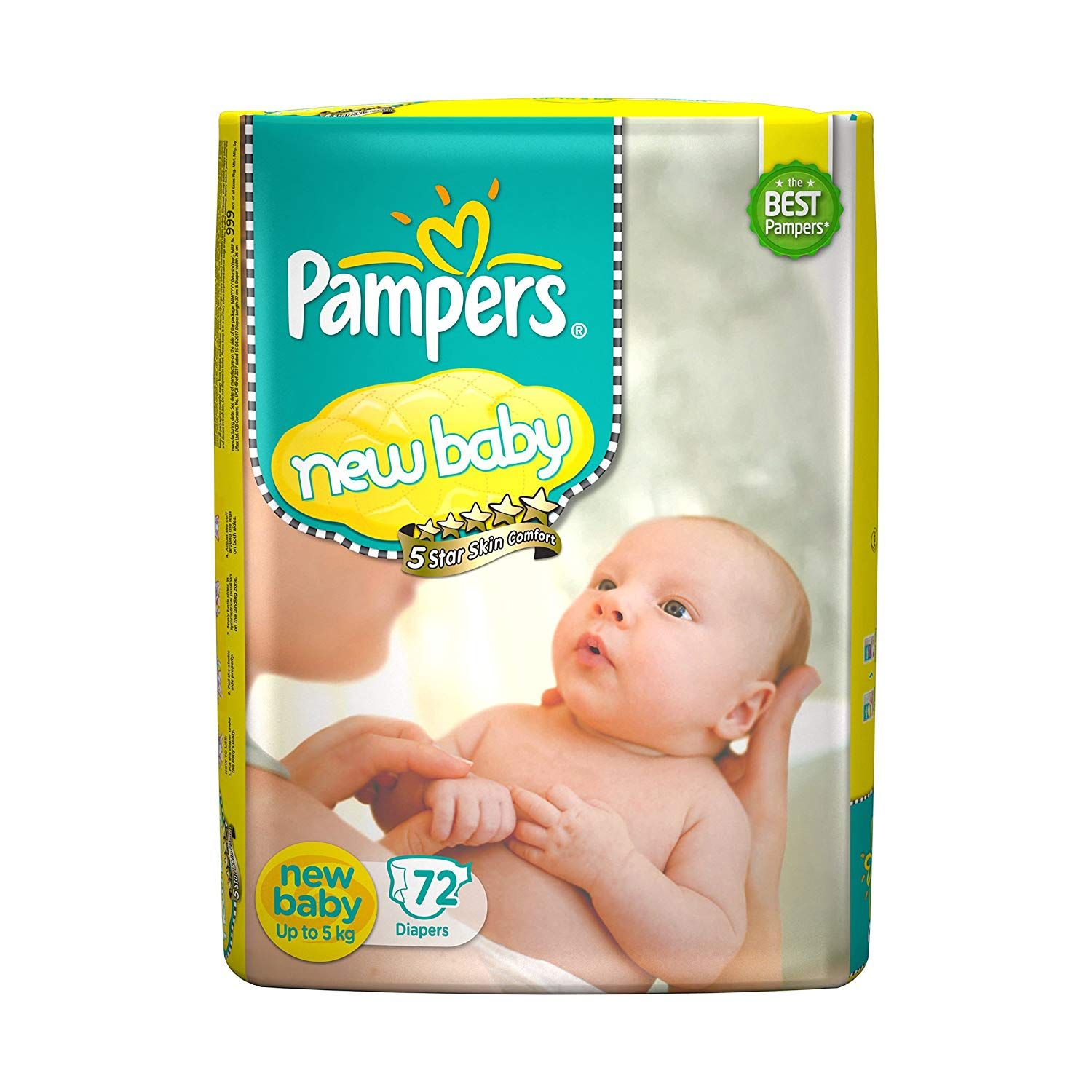 5 Star Skin Protection The Best Tape Style Diapers From Pampers With An Outer Layer Of Cotton Like Softnes Baby Diapers Baby Sensitive Skin New Baby Products