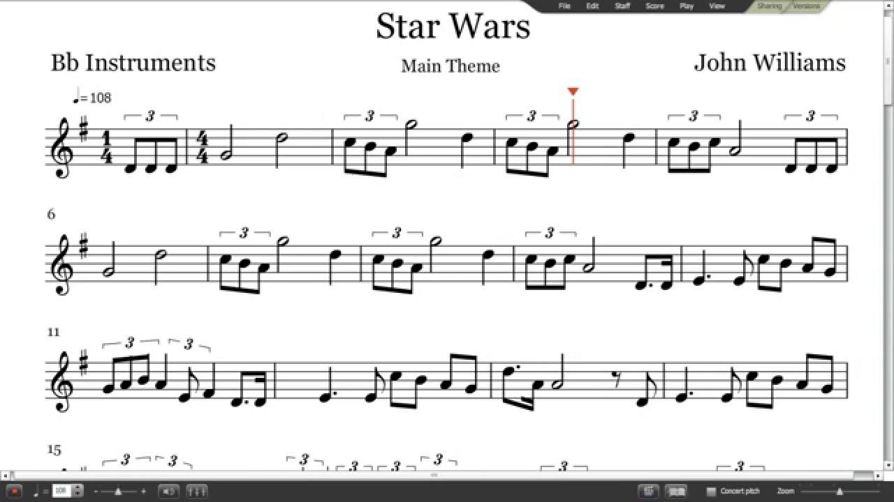 Image Result For Star Wars Theme Song Sheet Music Music