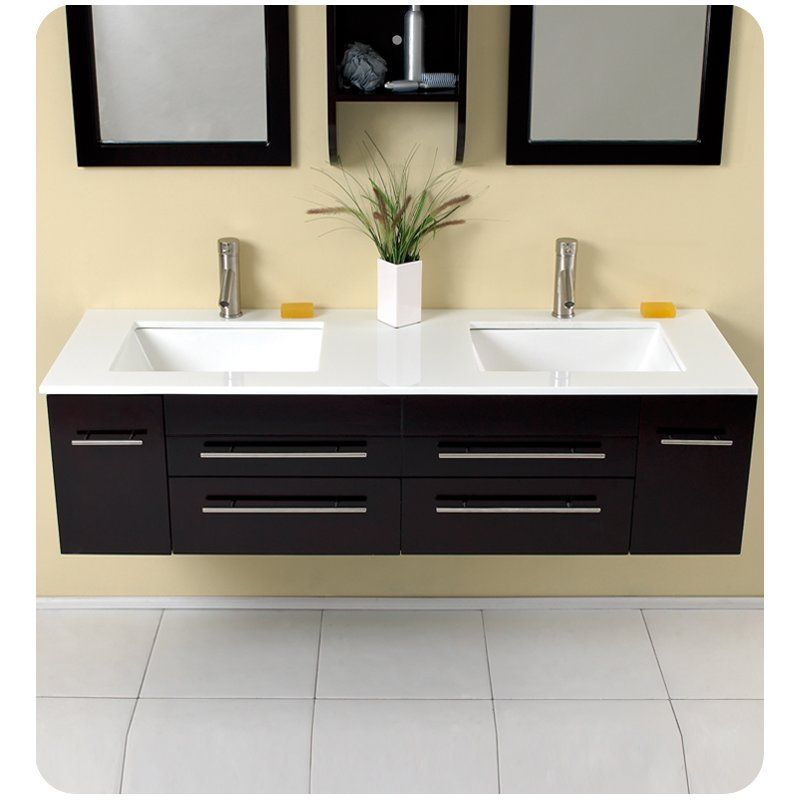 Youll love the stella bellezza 59 double bathroom vanity set with mirrors at