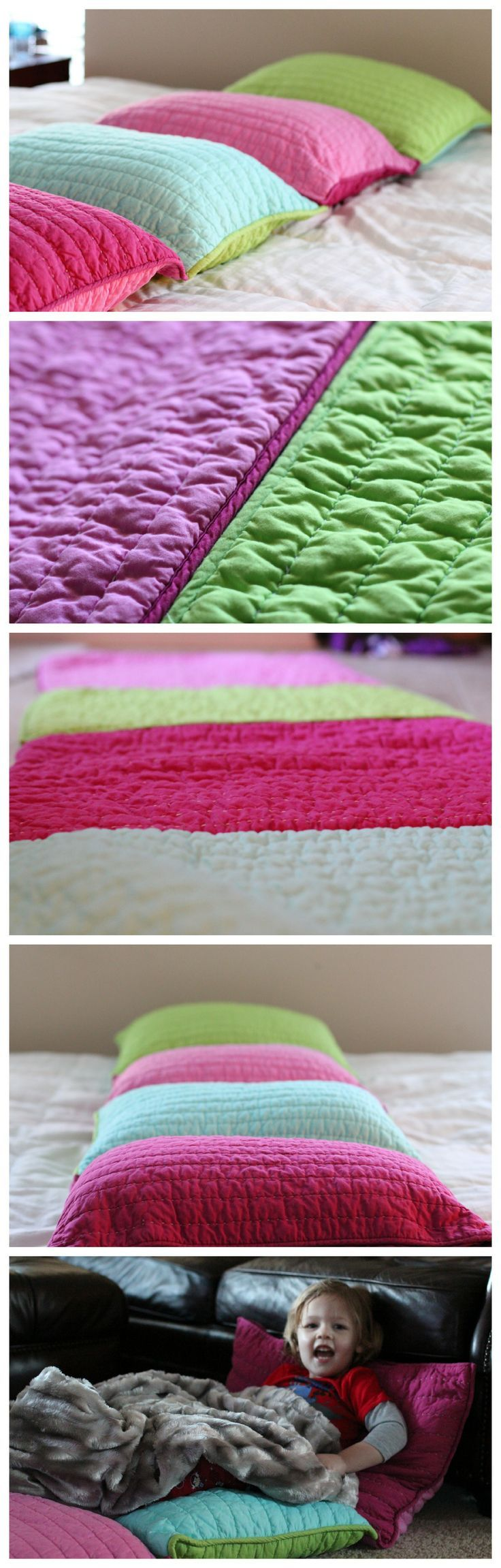 how to make a cozy pillow bed | beginner sewing projects, pillow