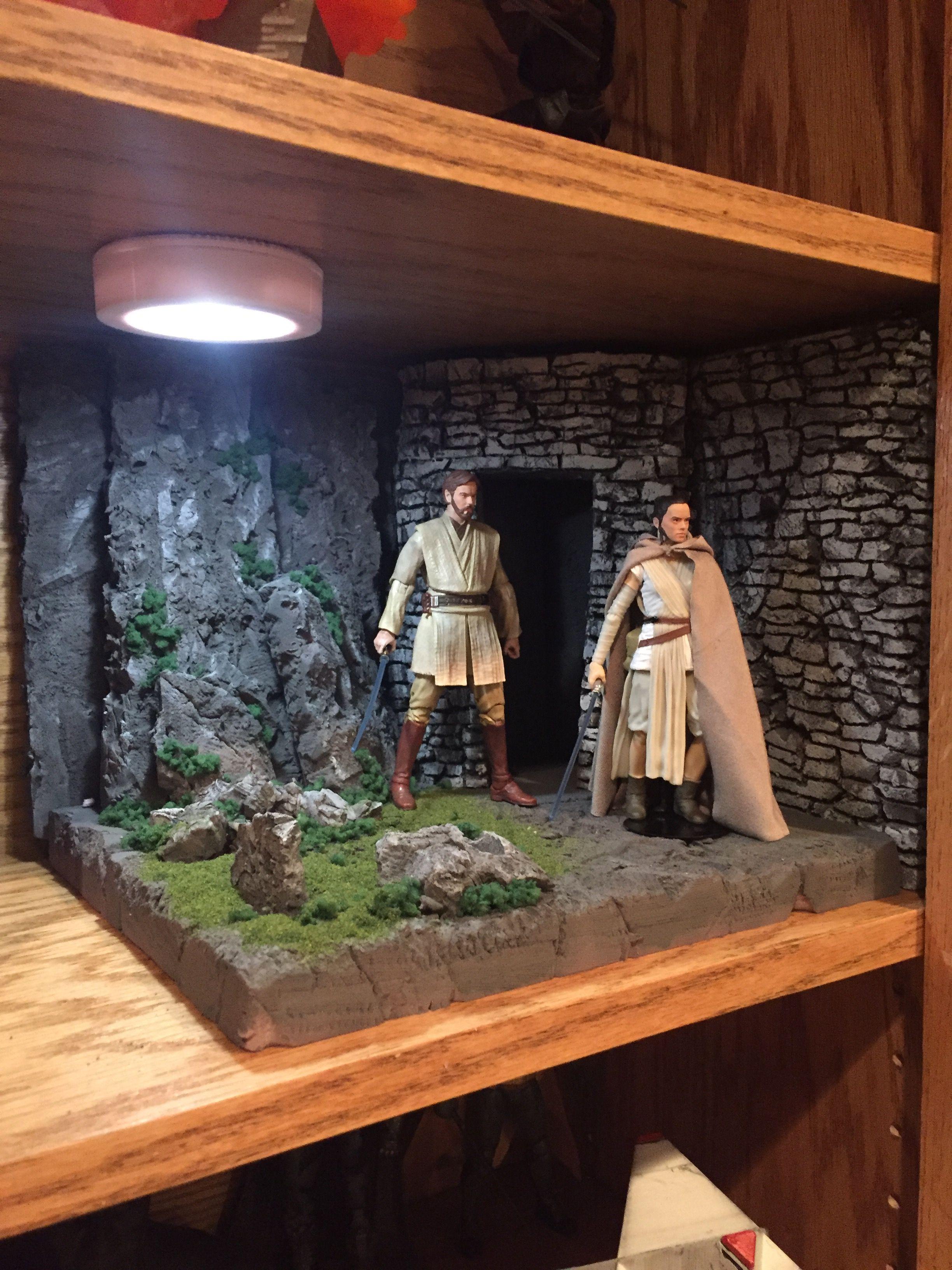 First Jedi Temple Diorama Star Wars Black Series Custom