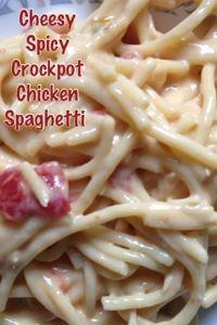 My recipe book cheesy spicy crock pot chicken spaghetti food my recipe book cheesy spicy crock pot chicken spaghetti forumfinder Choice Image