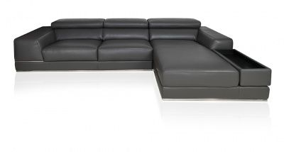 bergamo sectional leather modern sofa elephant gray living room rh pinterest ch