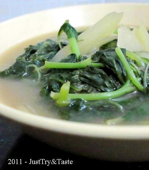 Sayur Bobor Bayam dan Pepaya Muda | Just Try & Taste