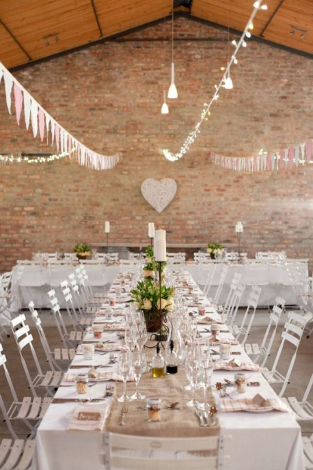 long table setup wedding reception%0A Love the long table setting