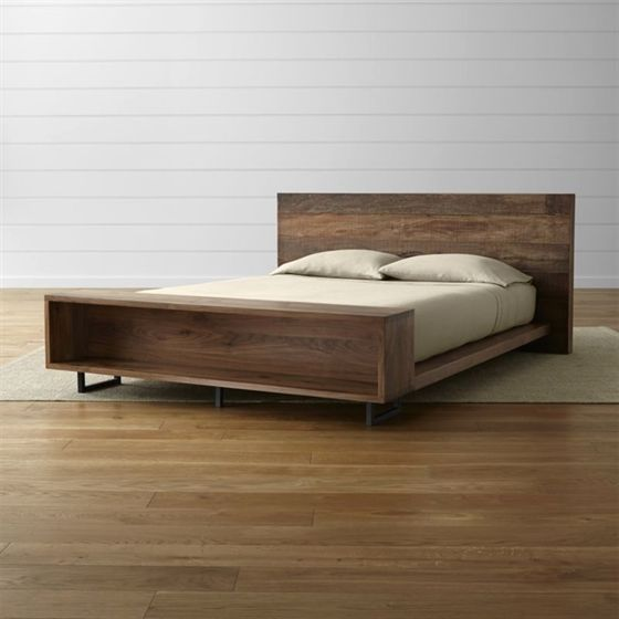atwood bed with bookcase crate and barrel modernbed modern rh pinterest com